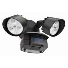<strong>Lithonia Lighting</strong> 2 Head LED Floodlight with Light Motion Sensor
