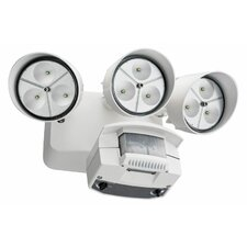 3 Head LED Floodlight with Light Motion Sensor