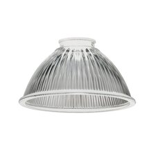 Mini Pendant Prismatic Shade with Clear Ribbed with Glass