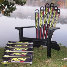 <strong>Ski Chair</strong> Fischer Ski Adirondack Chair and Ottoman