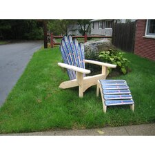 <strong>Ski Chair</strong> Snow Adirondack Chair and Ottoman