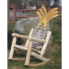 <strong>Ski Chair</strong> Hockey Stick Rocking Chair