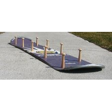 Snow Board Coat Rack with Wooden Peg