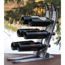 <strong>Ski Chair</strong> Snow 6 Bottle Tabletop Wine Rack