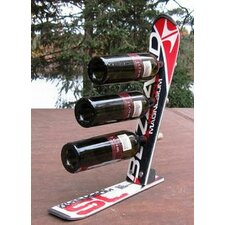 <strong>Ski Chair</strong> Snow 3 Bottle Tabletop Wine Rack