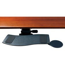 Curved Keyboard Tray and Mouse Platform with Single Adjustable Arm