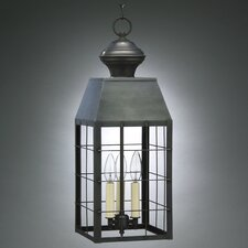 Woodcliffe Candelabra Sockets H-Rod 3 Light Hanging Lantern