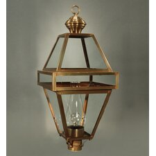 "Boston 14"" Medium Base Socket with Chimney Post Lantern"