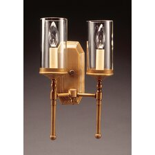 <strong>Northeast Lantern</strong> 2 Light Candelabra Socket No Scroll Sconce