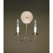<strong>Northeast Lantern</strong> 2 Light Candelabra Socket Wall Sconce