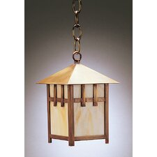 Lodge Medium Base Socket 1 Light Hanging Lantern