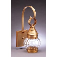 Onion Medium Base Socket No Cage Wall Lantern