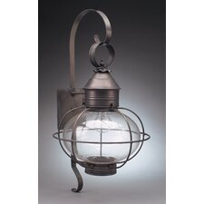 Onion 2 Candelabra Sockets Cage with Extended Scroll Wall Lantern