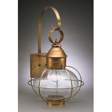 Onion 2 Candelabra Sockets Caged Wall Lantern