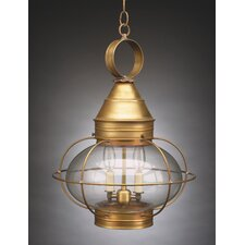 Onion Candelabra Sockets Caged 3 Light Hanging Lantern