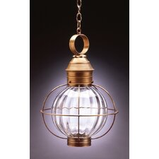<strong>Northeast Lantern</strong> Onion Medium Base Sockets Caged Round 1 Light Hanging Lantern