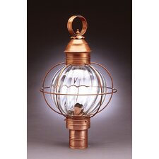 Onion 1 Light Caged Round Post Lantern