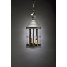 <strong>Northeast Lantern</strong> Heal Medium Base Socket Cone Top 2 Light Hanging Lantern