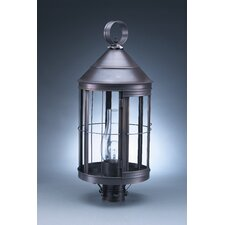 <strong>Northeast Lantern</strong> Heal 1 Light Chimney Cone Top Post Lantern