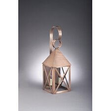 <strong>Northeast Lantern</strong> York 2 Candelabra Socket Pyramid Top X-Bars Wall Lantern