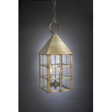 York Candelabra Socket Pyramid Top H-Bars 2 Light Hanging Lantern