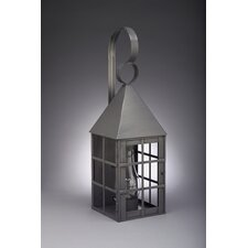 York Medium Base Socket with Chimney Pyramid Top H-Bars Wall Lantern