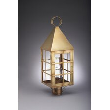 York 1 Light Chimney Pyramid Top H-Bars Post Lantern