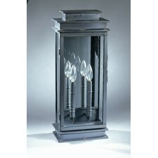 <strong>Northeast Lantern</strong> Empire 2 Candelabra Sockets Antique Mirror Wall Lantern