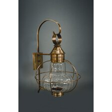 Onion Medium Base Socket Extended Scroll Wall Lantern