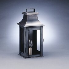 Concord 1 Candelabra Socket with Chimney Pagoda Wall Lantern