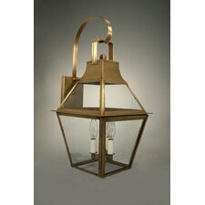 <strong>Northeast Lantern</strong> Uxbridge 3 Candelabra Sockets Bracket Wall Lantern