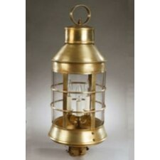 <strong>Northeast Lantern</strong> Nautical 3 Light Post Lantern