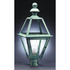 <strong>Northeast Lantern</strong> Boston 12' Medium Base Socket with Chimney Wall Lantern