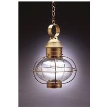 <strong>Northeast Lantern</strong> Onion Medium Base Socket Cage 1 Light Hanging Lantern