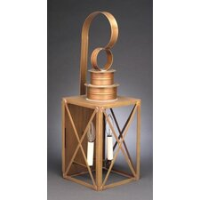 Suffolk Candelabra Sockets Can Top X-Bars 2 Light Hanging Lantern