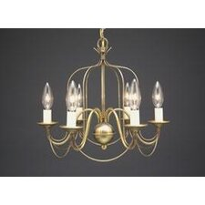 <strong>Northeast Lantern</strong> Chandelier 6 Light Candelabra Sockets Bird Cage Hanging Chandelier