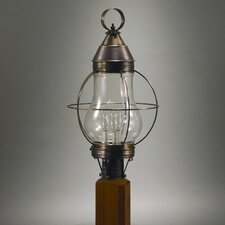 Onion 1 Light Caged Pear Post Lantern
