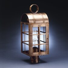 "Adams 3 Light 8"" Outdoor Post Lantern"