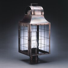 <strong>Northeast Lantern</strong> Livery 1 Light Chimney Culvert Top H-Rod Post Lantern
