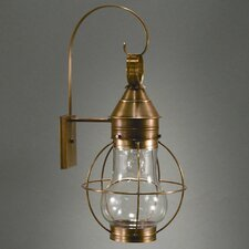 <strong>Northeast Lantern</strong> Onion Medium Base Socket Caged Pear Wall Lantern
