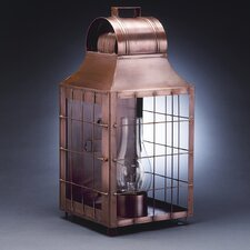 Livery Medium Base Socket with Chimney Culvert Top H-Rod Wall Lantern