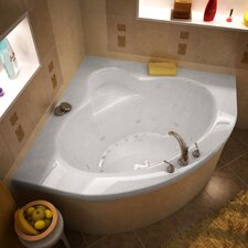 "Trinidad Dream Suite 60"" x 60"" Air and Whirlpool Jetted Bathtub"