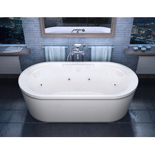 "Luxury Suite Royal 67"" x 34"" Air and Whirlpool Water Jetted Bathtub"