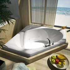 "St. Barts 60"" x 60"" Air and Whirlpool Jetted Bathtub"