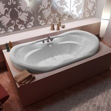 "Antigua Dream Suite Waterfall 70"" x 41"" Air and Whirlpool Jetted Bathtub"
