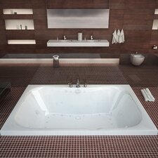 "Dominica 60"" x 40"" Air and Whirlpool Jetted Bathtub"