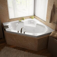 "Curacao Dream Suite 60"" x 60"" Air and Whirlpool Jetted Bathtub"