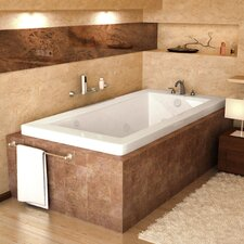 "Guadalupe Dream Suite 60"" x 42"" Air and Whirlpool Jetted Bathtub"
