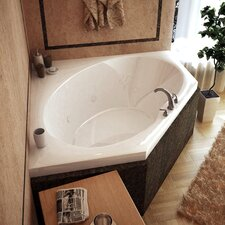 "Tortola 60"" x 60"" Whirlpool Jetted Bathtub"