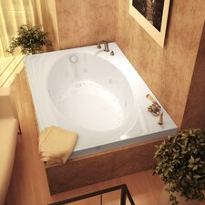 "Bermuda Dream Suite 60"" x 42"" Air and Whirlpool Jetted Bathtub"